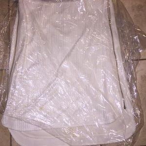 Rag & bone white zipper skirt sz 4 unique new